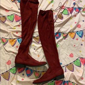 Burgundy Knee Highs
